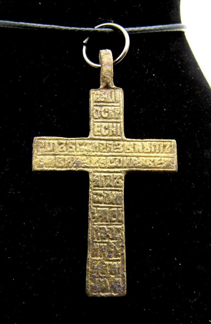 Late Medieval Bronze Cross Pendant - 2