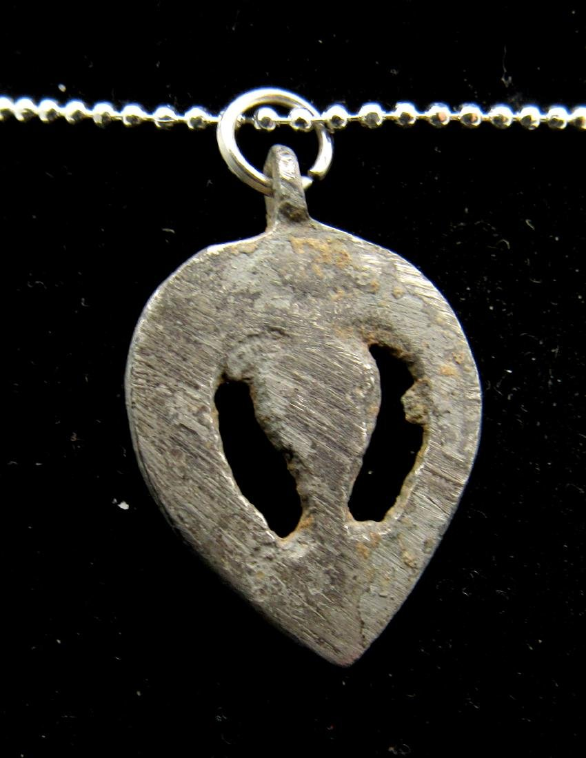 Medieval Viking Silvered Bronze Pendant