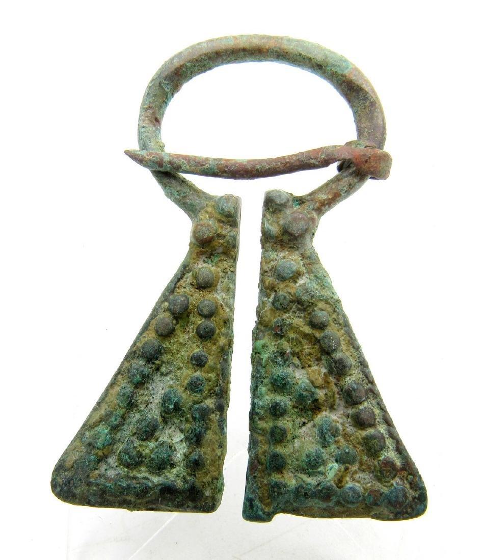 Medieval Viking Bronze Omega Penannular Brooch