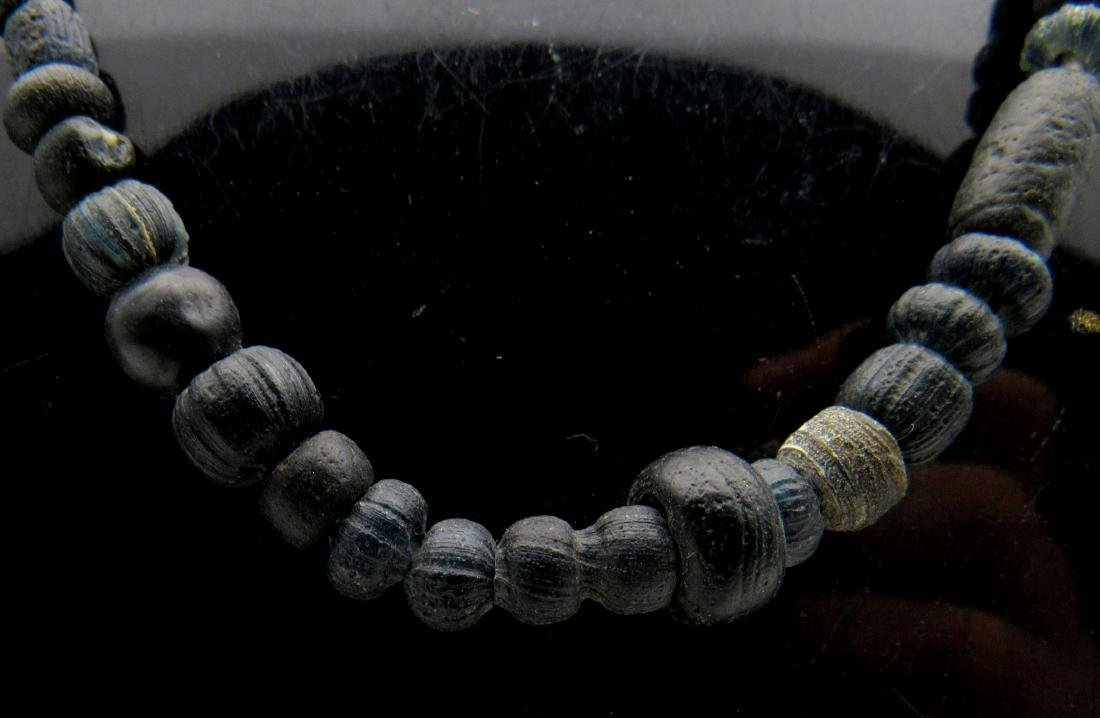 Ancient Roman Stone Necklace with 97 Beads - 2