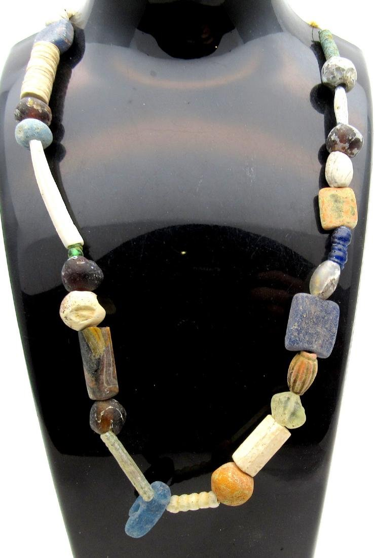 Medieval Viking Period Glass Necklace with 34