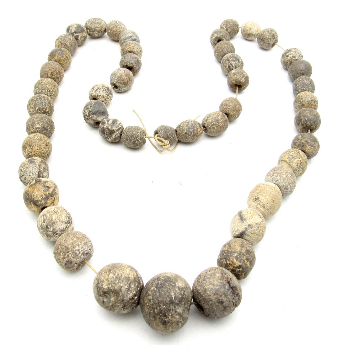 Ancient Stone Age Bone Necklace with 47 Beads - 3