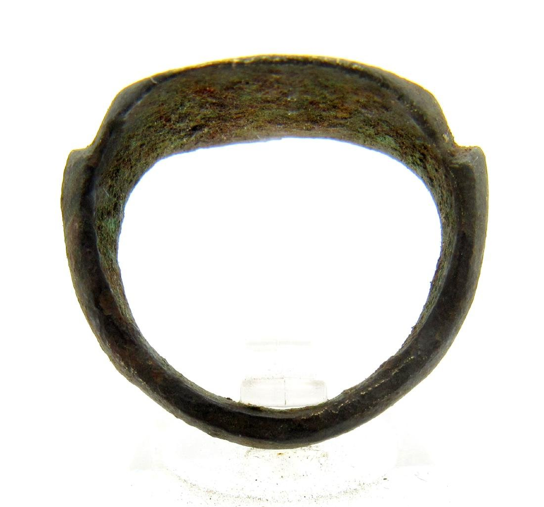 Ancient Greek Bronze Ring with Bull on Bezel - 3