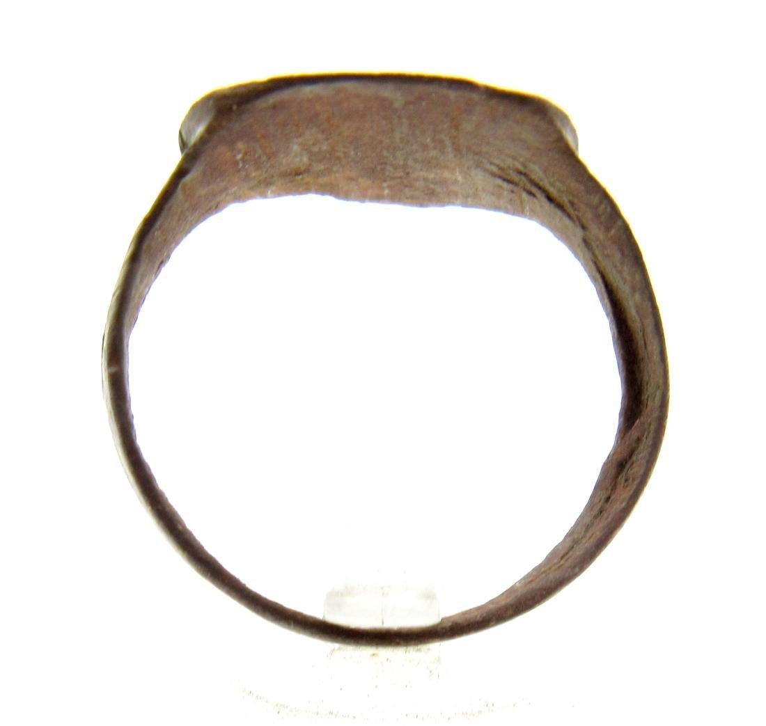 Medieval Crusaders Bronze Heraldic Ring - 3