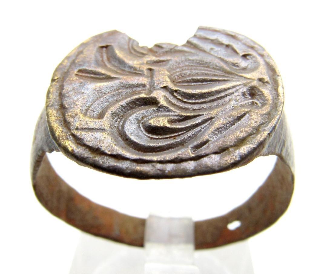 Medieval Crusaders Bronze Heraldic Ring