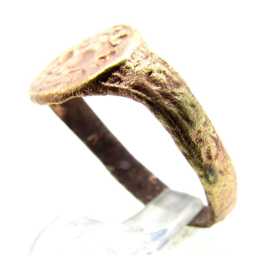 Medieval Crusaders Bronze Heraldic Ring - 2
