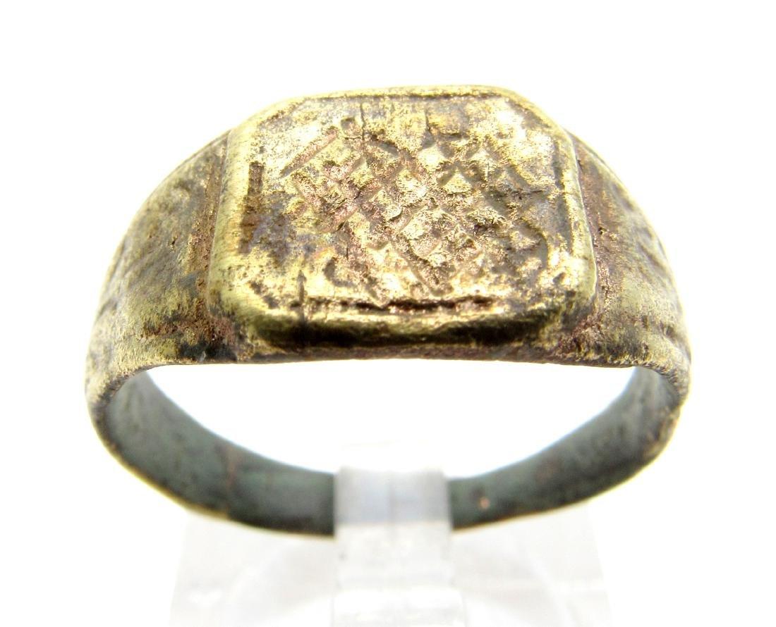 Medieval Bronze Fishermans Ring