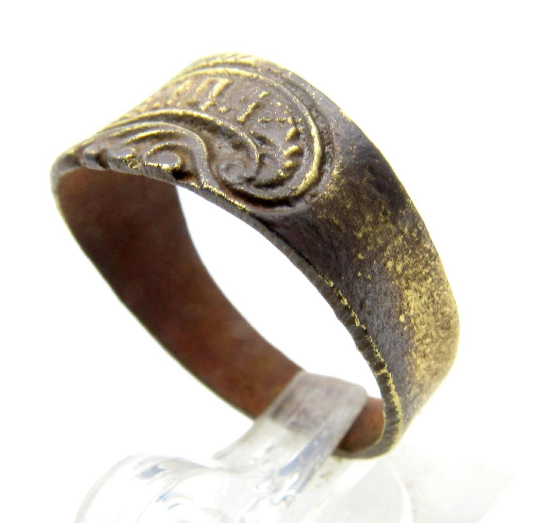 Post Medieval Bronze Hope Ring - 2