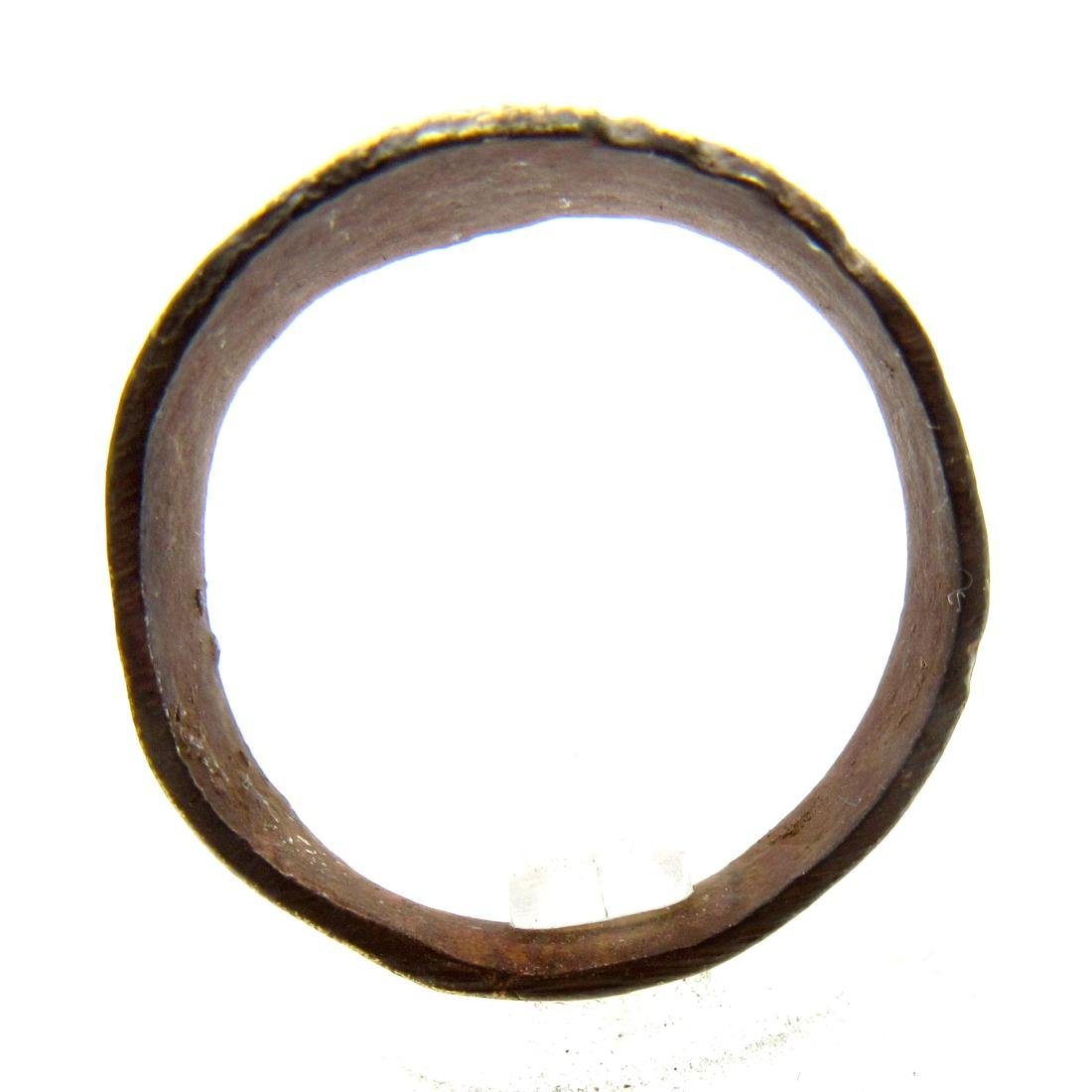 Post Medieval Bronze Hope Ring - 3