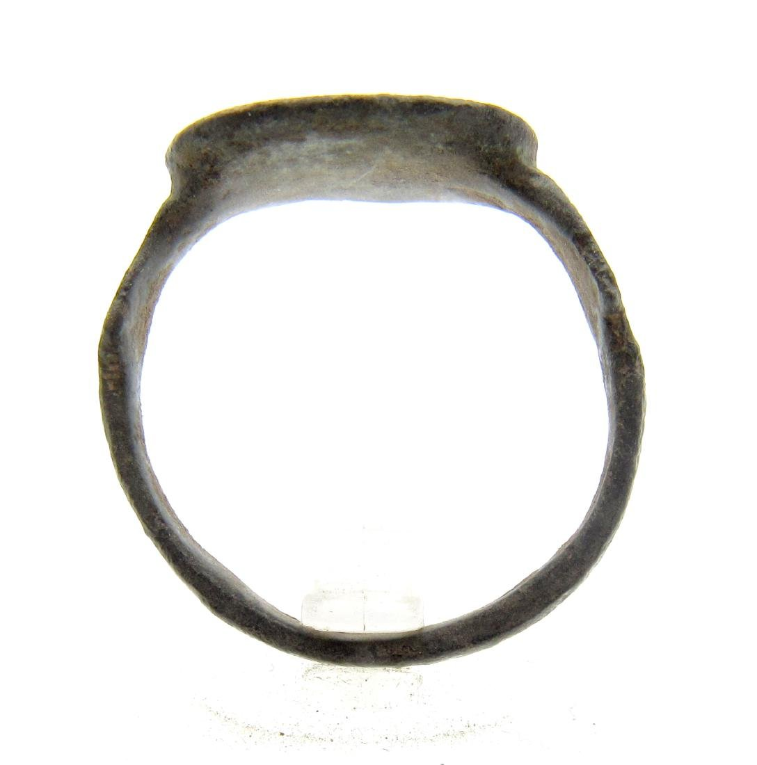 Medieval Crusaders Bronze Ring with Star of Bethlehem - 3