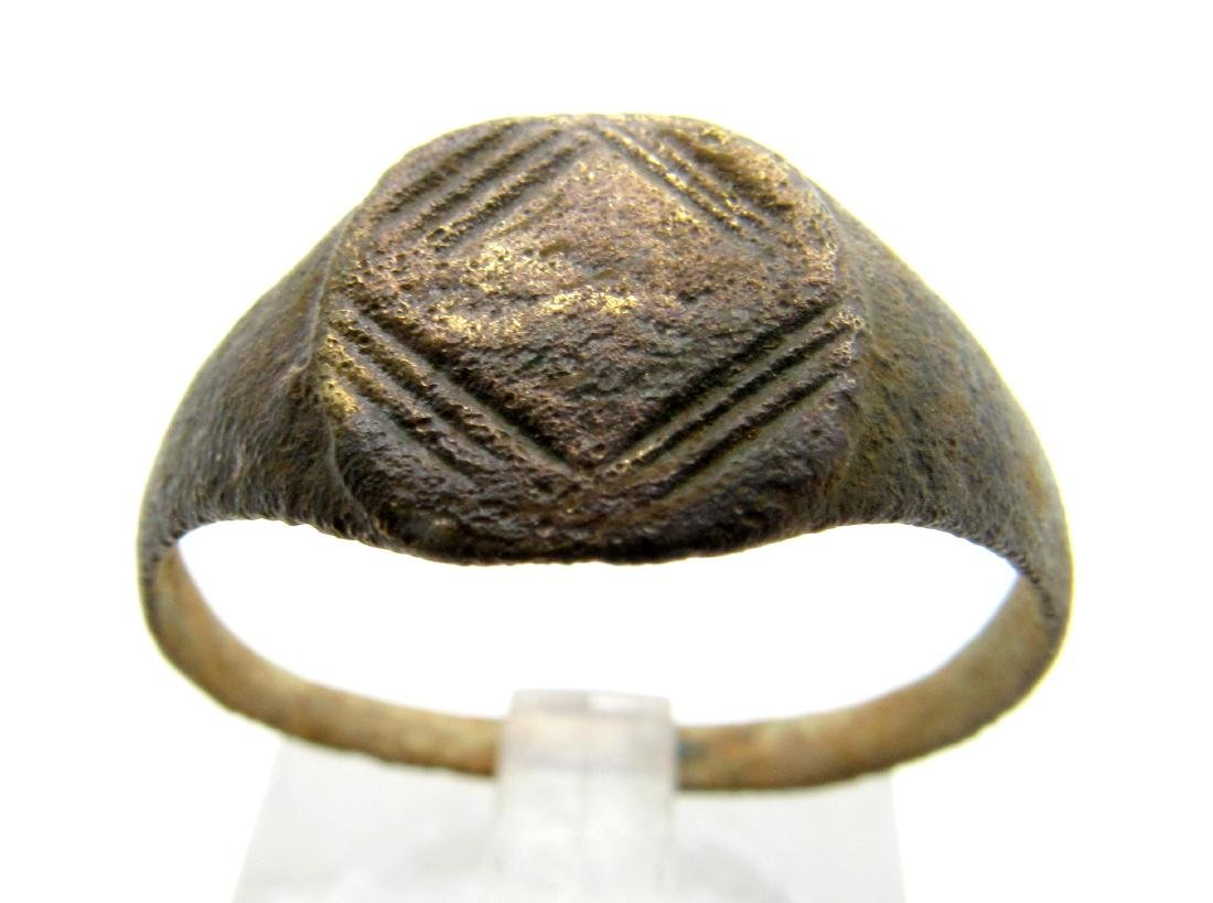 Medieval Viking Decorated Bronze Ring
