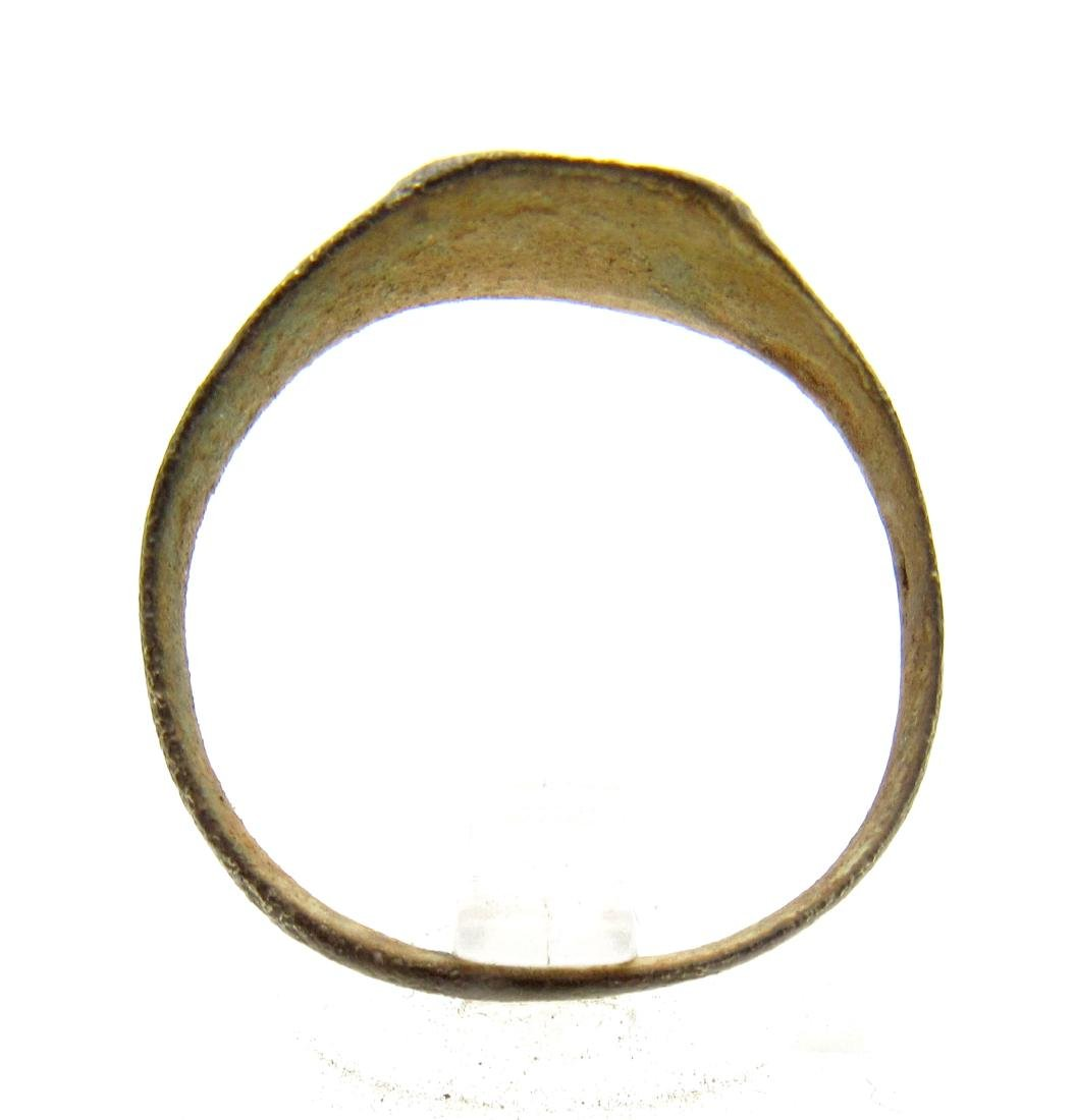 Medieval Viking Decorated Bronze Ring - 3
