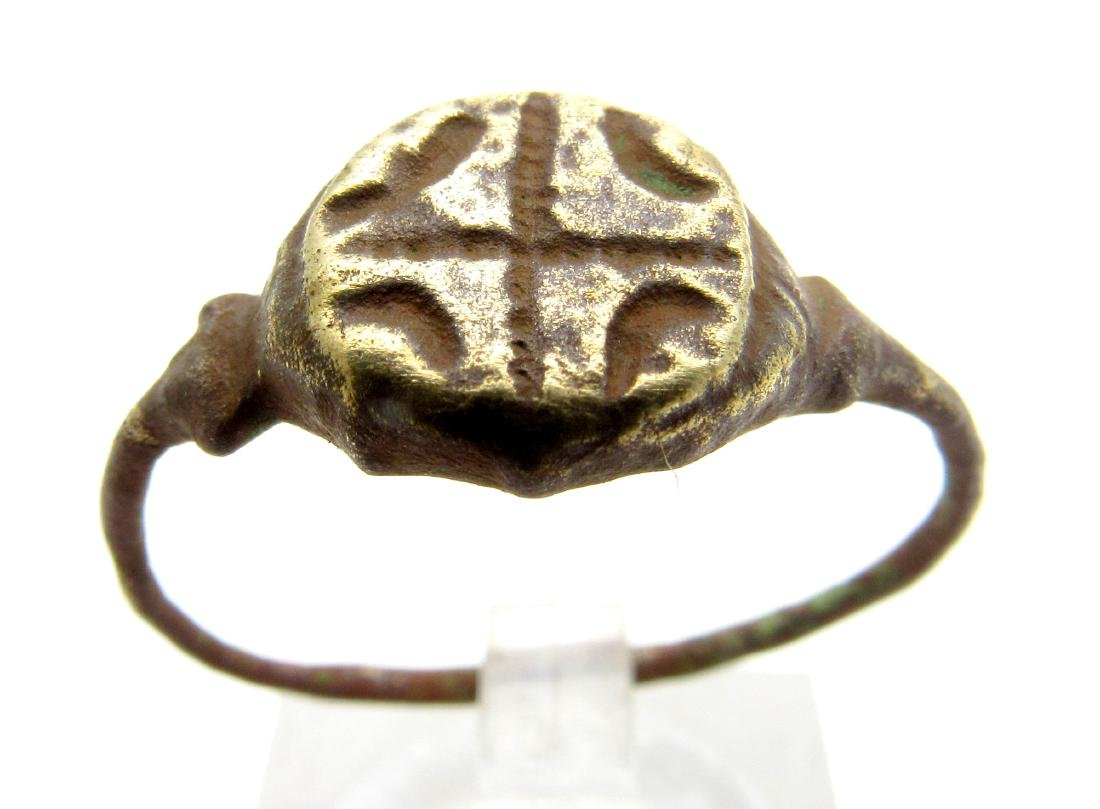 Medieval Crusaders Bronze Cross Ring
