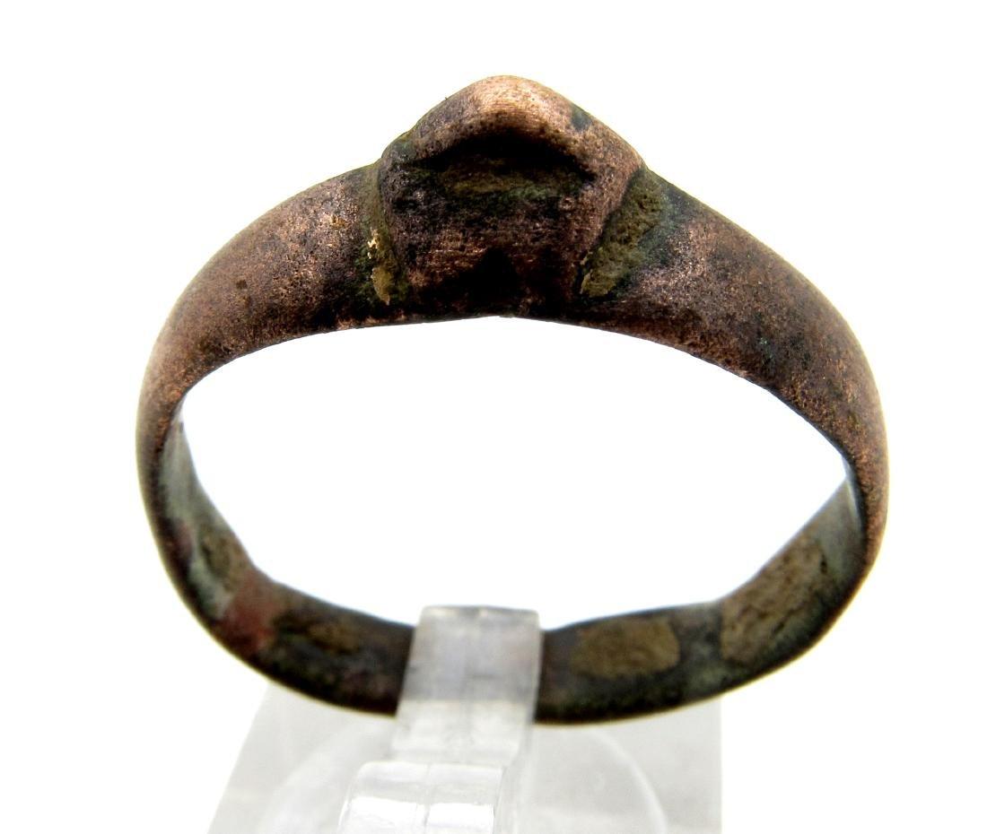 Ancient Roman Bronze Archers Ring