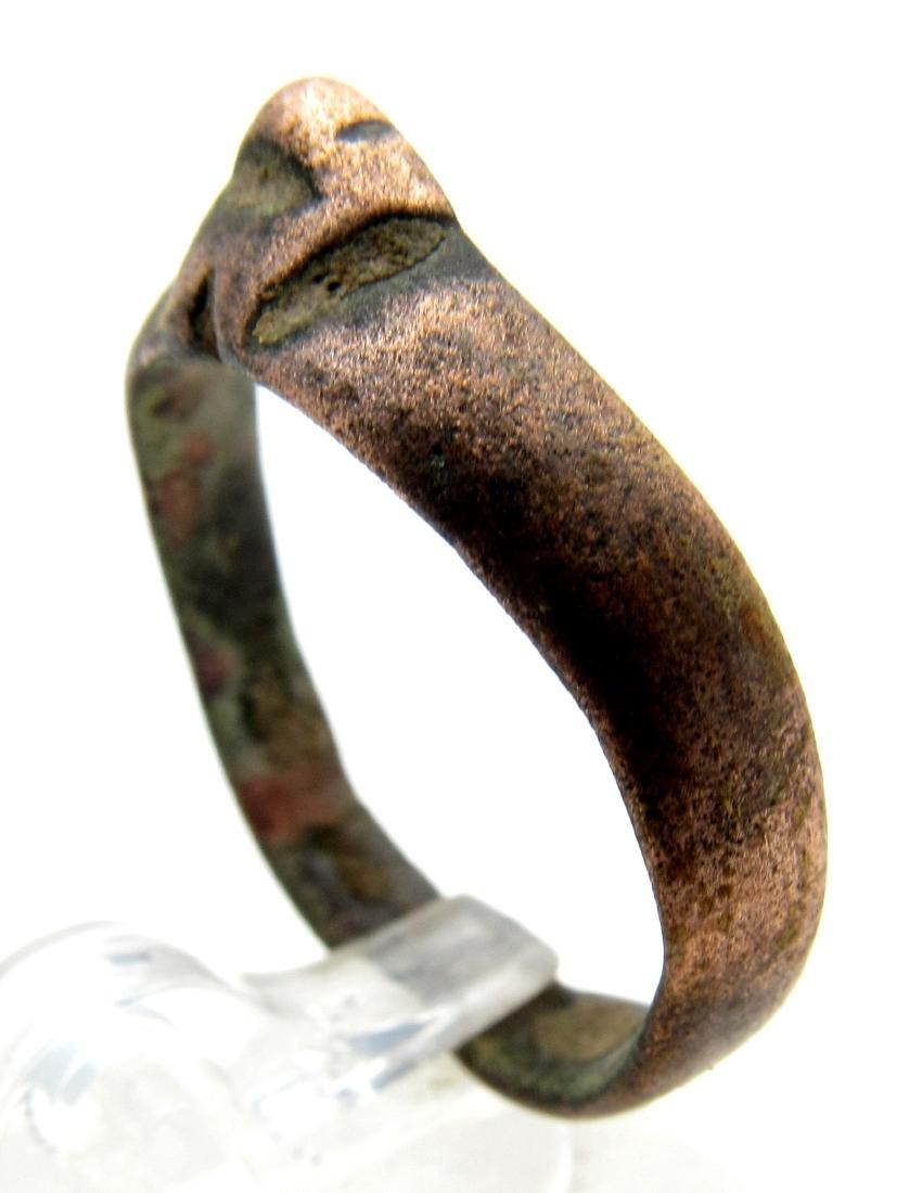 Ancient Roman Bronze Archers Ring - 2