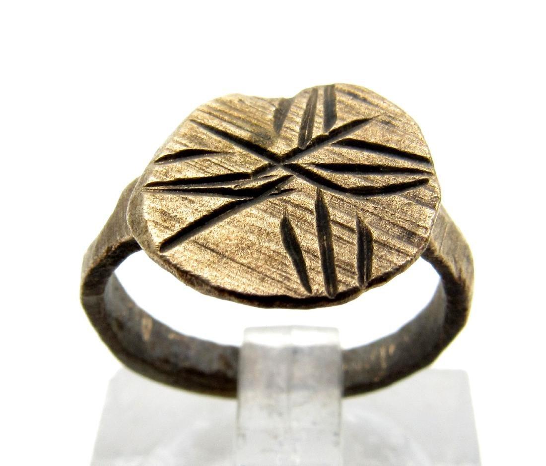 Medieval Crusaders Bronze Cross Ring