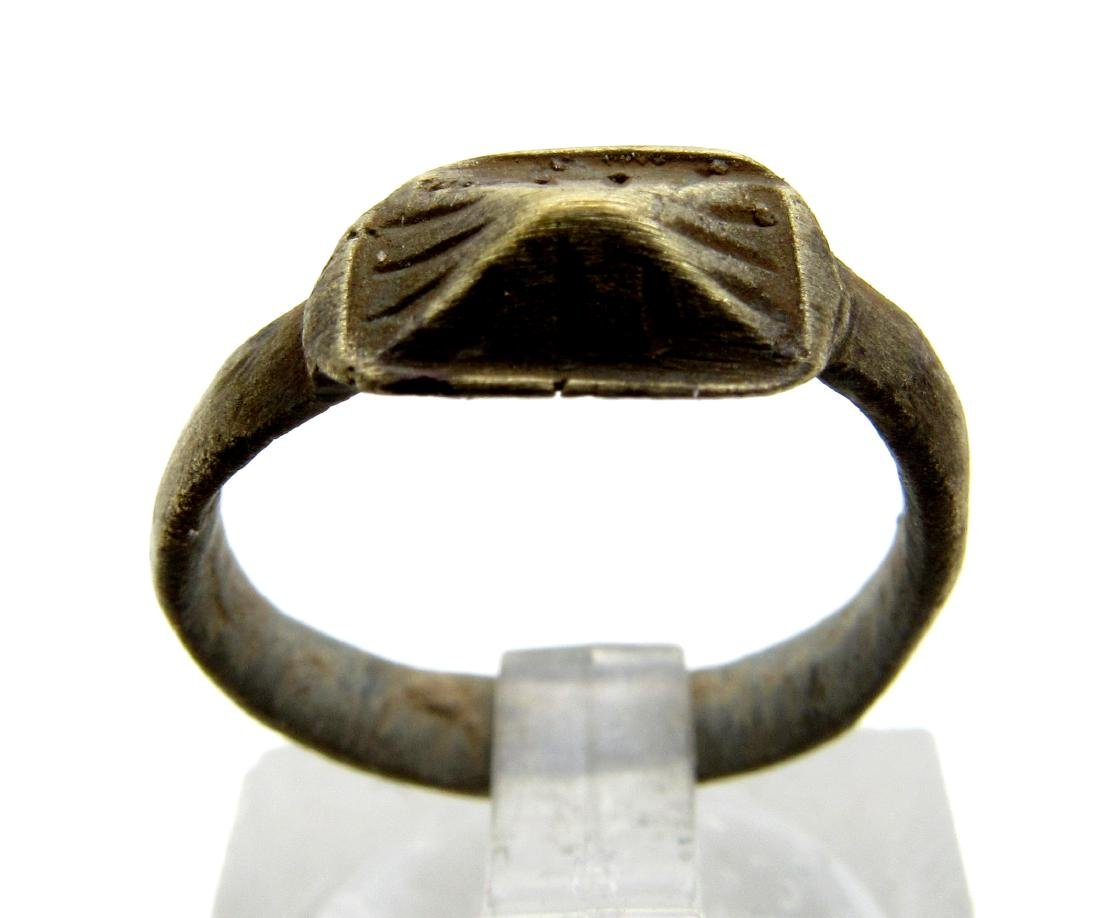Ancient Roman Bronze Pyramid Ring