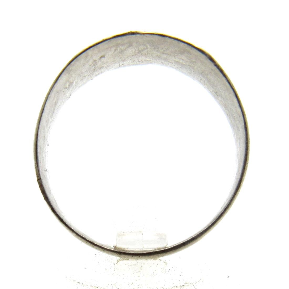 Post Medieval Silver Ring Engraved with Personal Name - 3