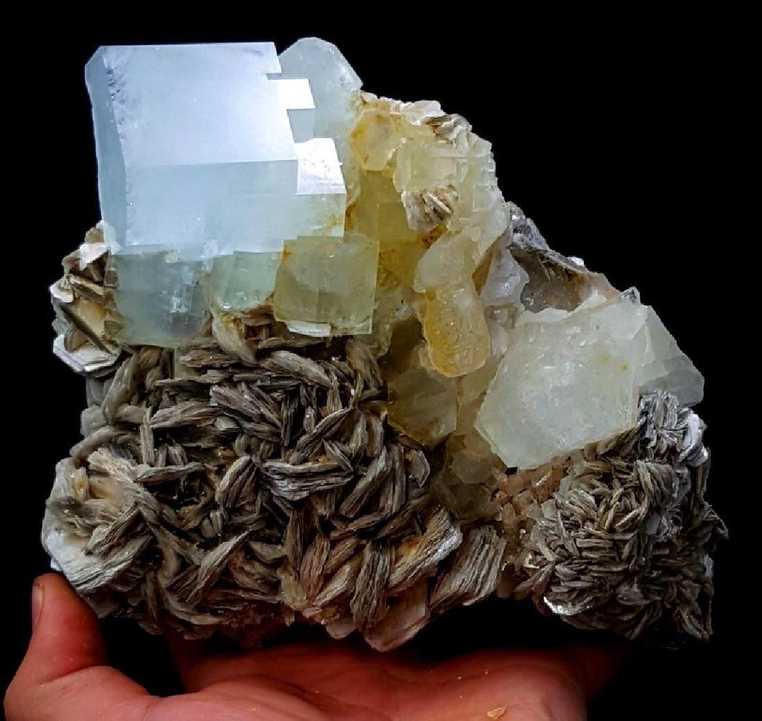 1139 Gram Huge Size Aquamarine Crystals Cluster with