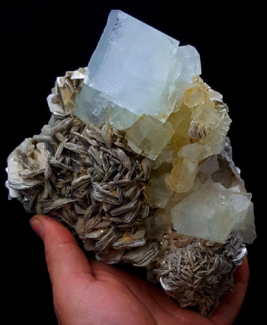 1139 Gram Huge Size Aquamarine Crystals Cluster with - 2