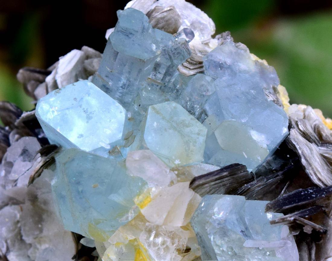 Aquamarine Crystals with Fluorite , Quartz and - 2