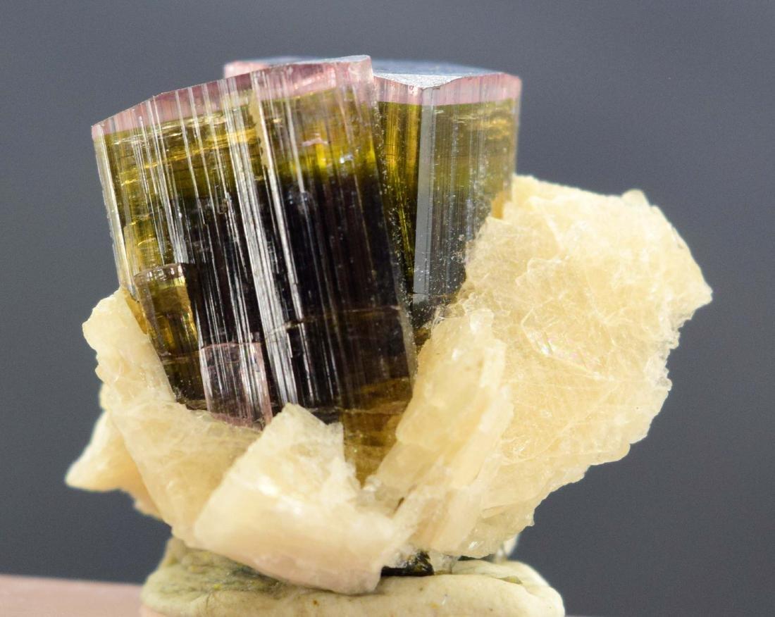 Tri Color Tourmaline Crystals with Cleavlandite albite