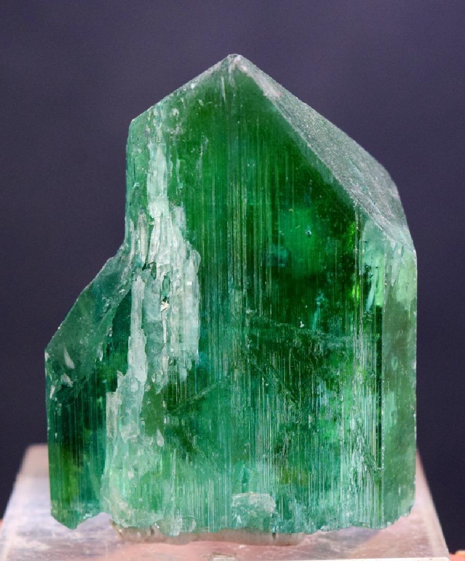 Terminated Lush Green Kunzite Crystal