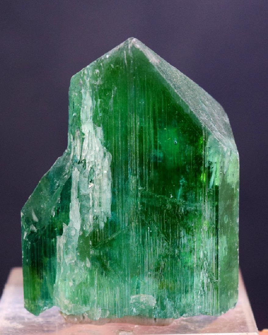 Terminated Lush Green Kunzite Crystal - 5