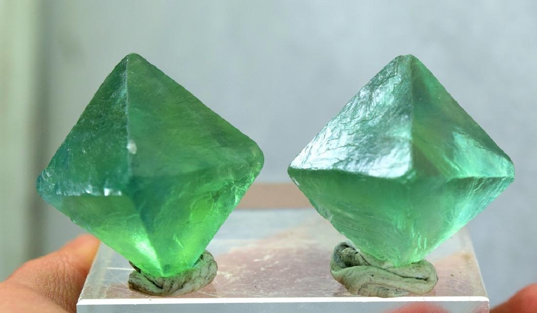 Natural Octahedral Fluorite Crystals pair - 3