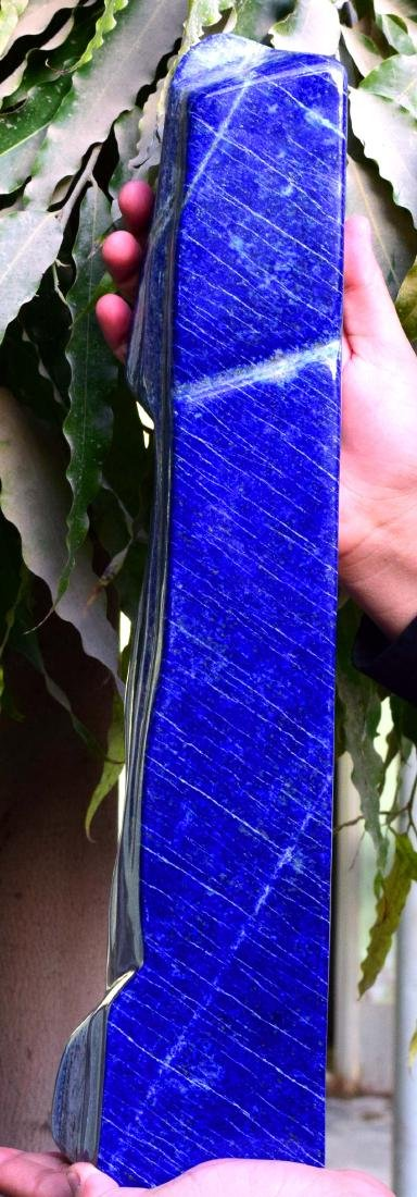 Huge Size Self Standing Genuine Royal Blue Lapis lazuli - 3