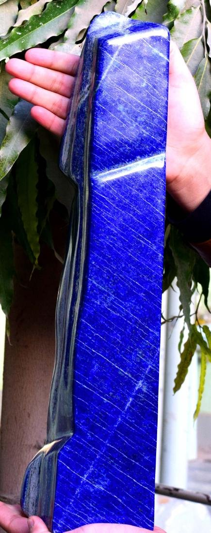 Huge Size Self Standing Genuine Royal Blue Lapis lazuli - 5