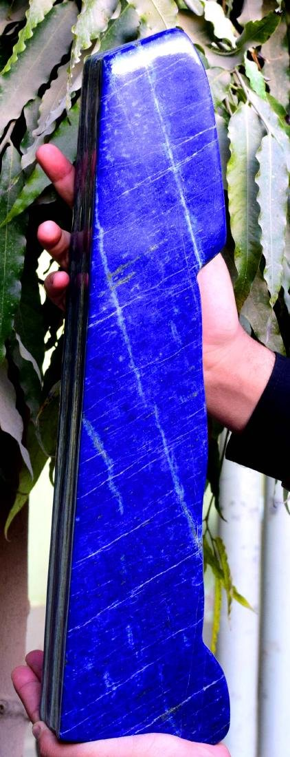 Huge Size Self Standing Genuine Royal Blue Lapis lazuli - 8