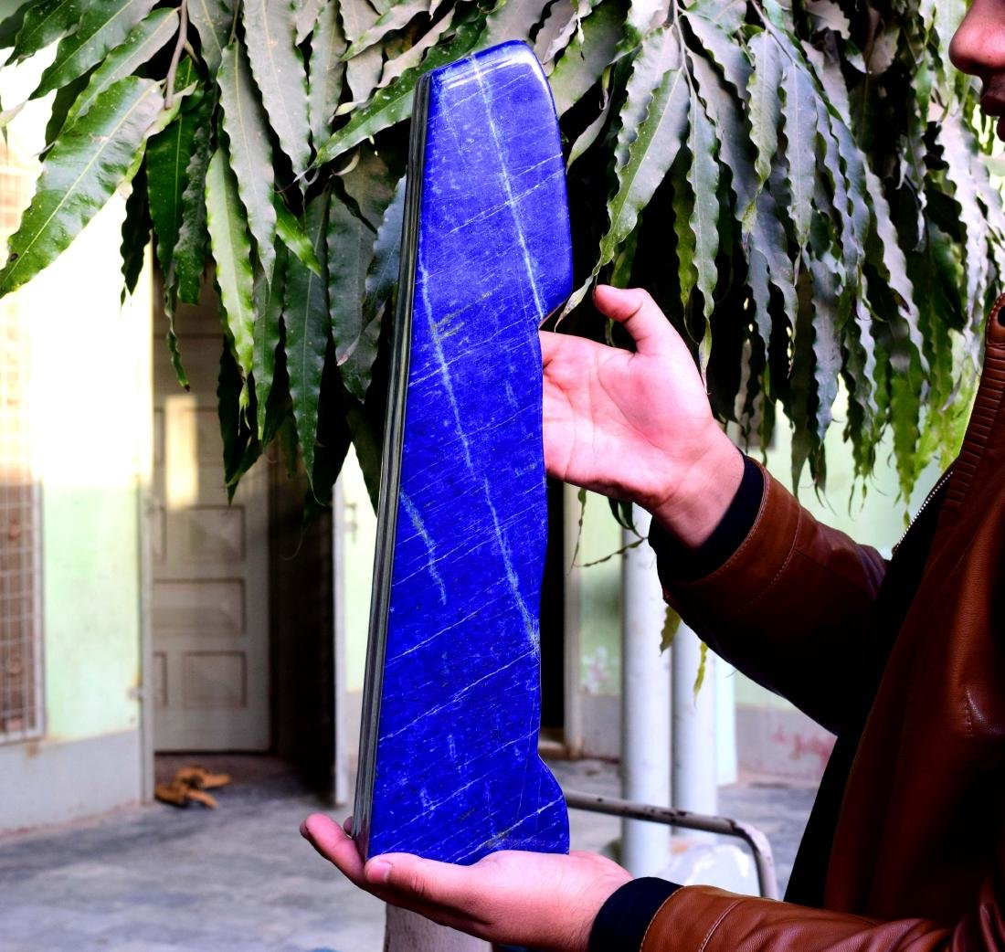 Huge Size Self Standing Genuine Royal Blue Lapis lazuli - 9