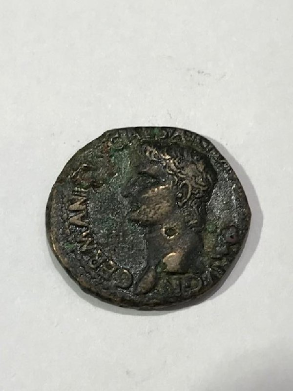 Roman Empire Bust of Germanicus Issued by Caligula Coin