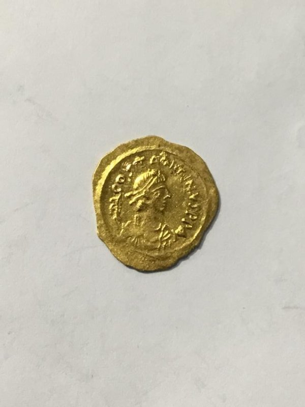 Byzantine gold Tremissis Coin
