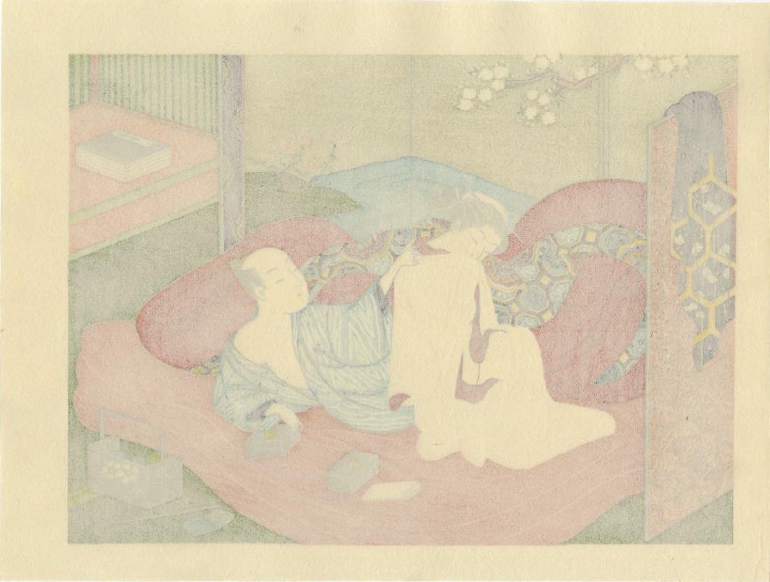 Harunobu Suzuki Woodblock White Kimono - 2