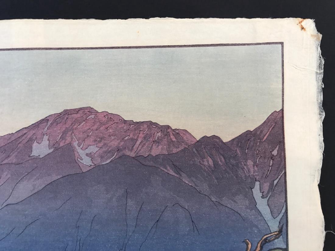 Hiroshi Yoshida Woodblock Monotake Notoridake Alps - 2