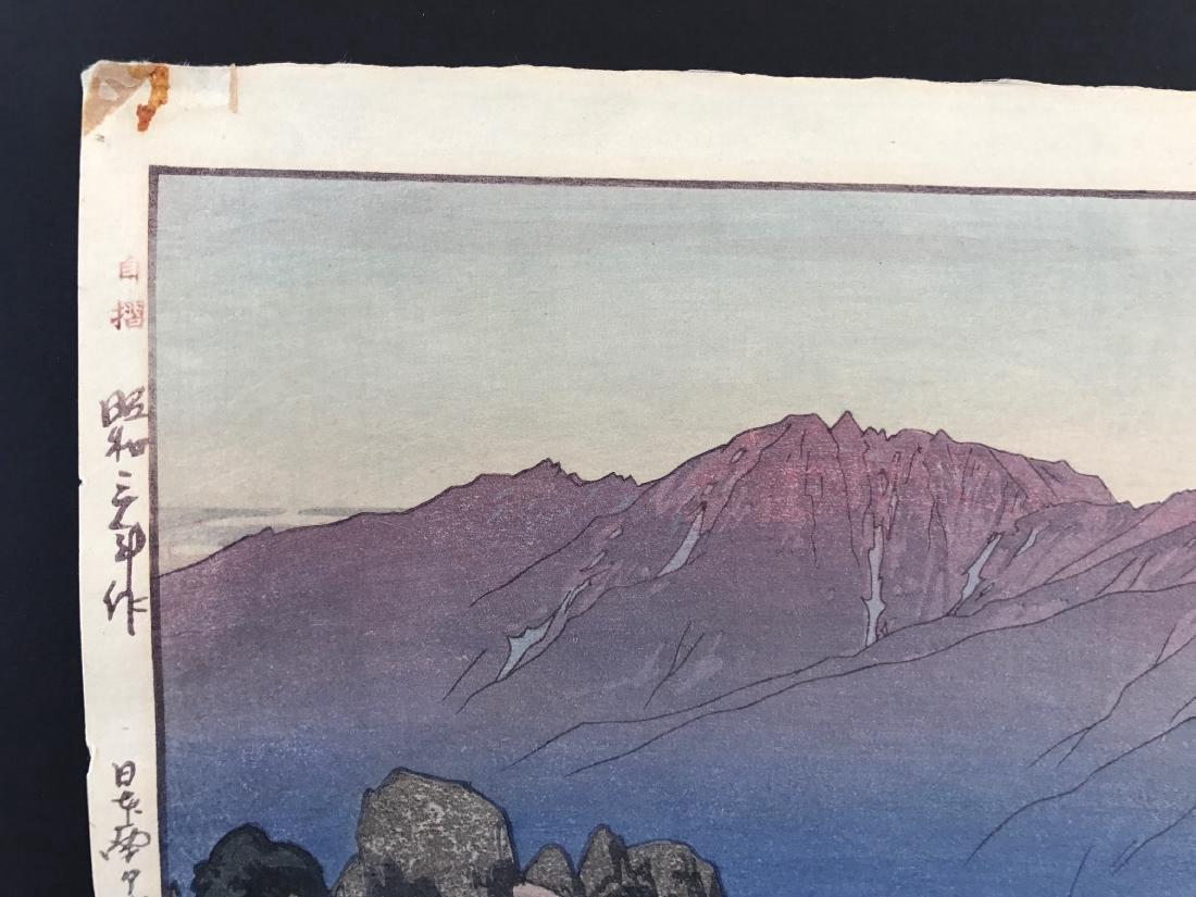 Hiroshi Yoshida Woodblock Monotake Notoridake Alps - 3