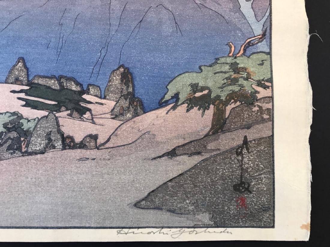 Hiroshi Yoshida Woodblock Monotake Notoridake Alps - 4