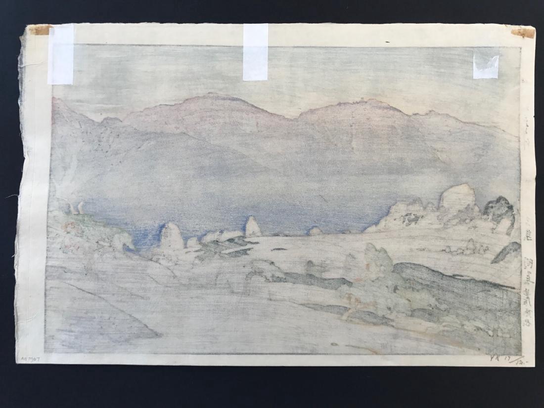 Hiroshi Yoshida Woodblock Monotake Notoridake Alps - 5