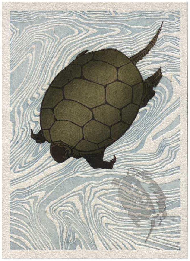Hokusai Katsushika, After Woodblock Turtles