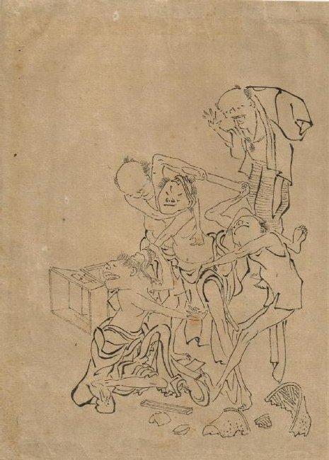 Hokusai Katsushika, Attributed Preparatory Drawing