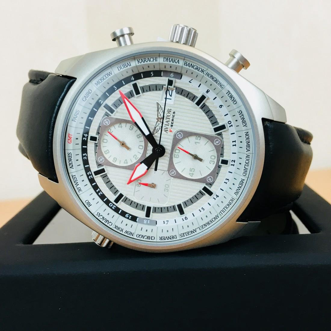 Aviator – Men's World Time Watch