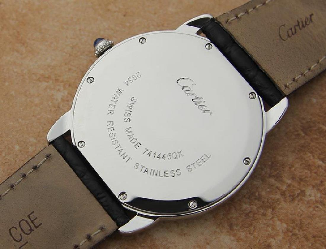 Cartier Ronde Men's 36mm Stainless Steel Quartz Watch - 10