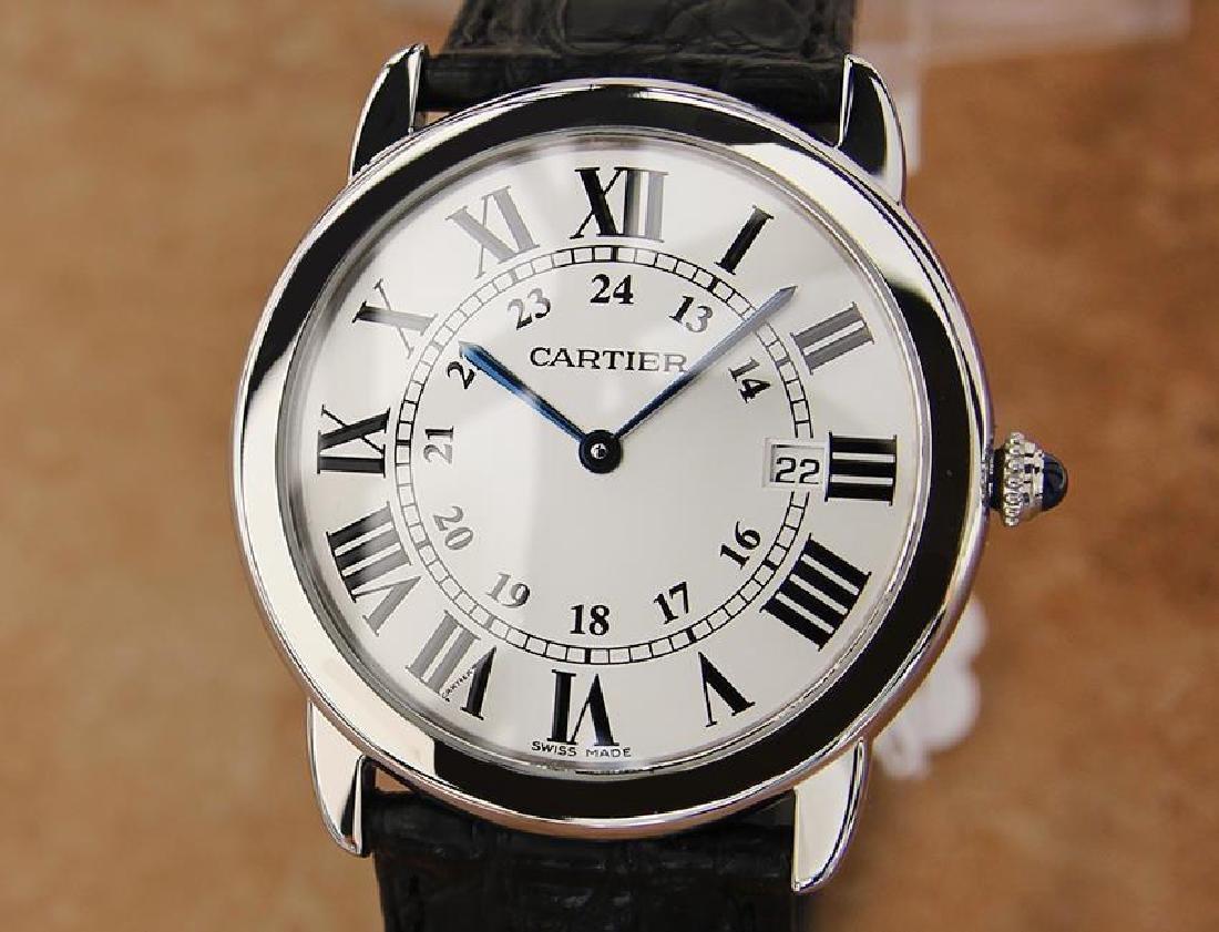 Cartier Ronde Men's 36mm Stainless Steel Quartz Watch
