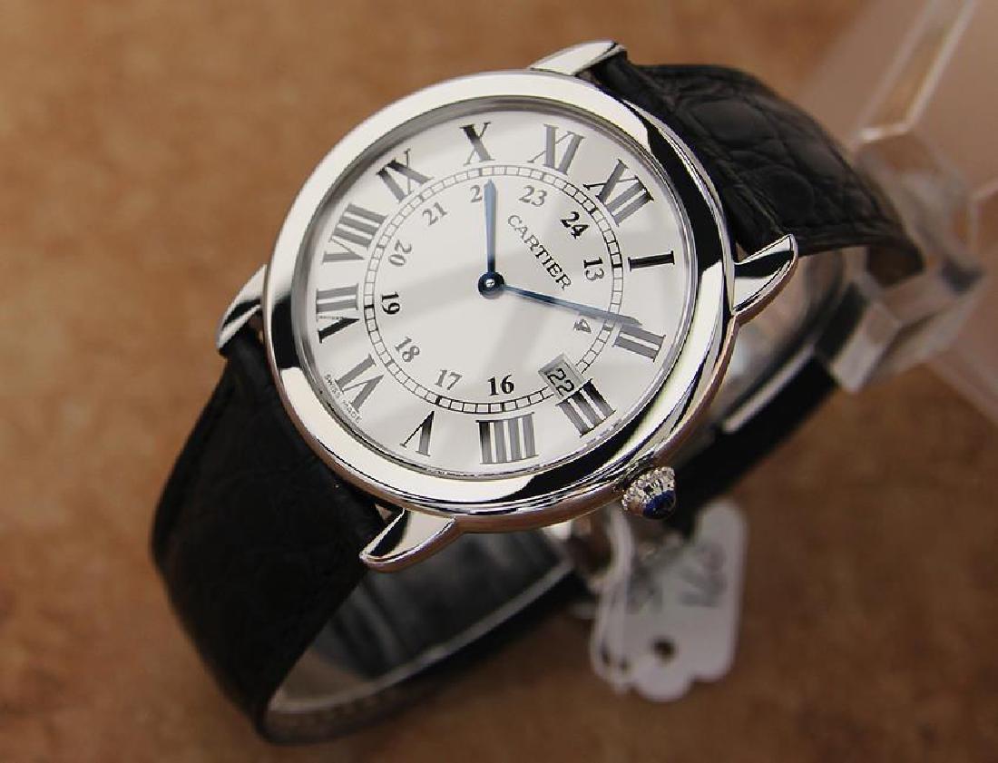 Cartier Ronde Men's 36mm Stainless Steel Quartz Watch - 2