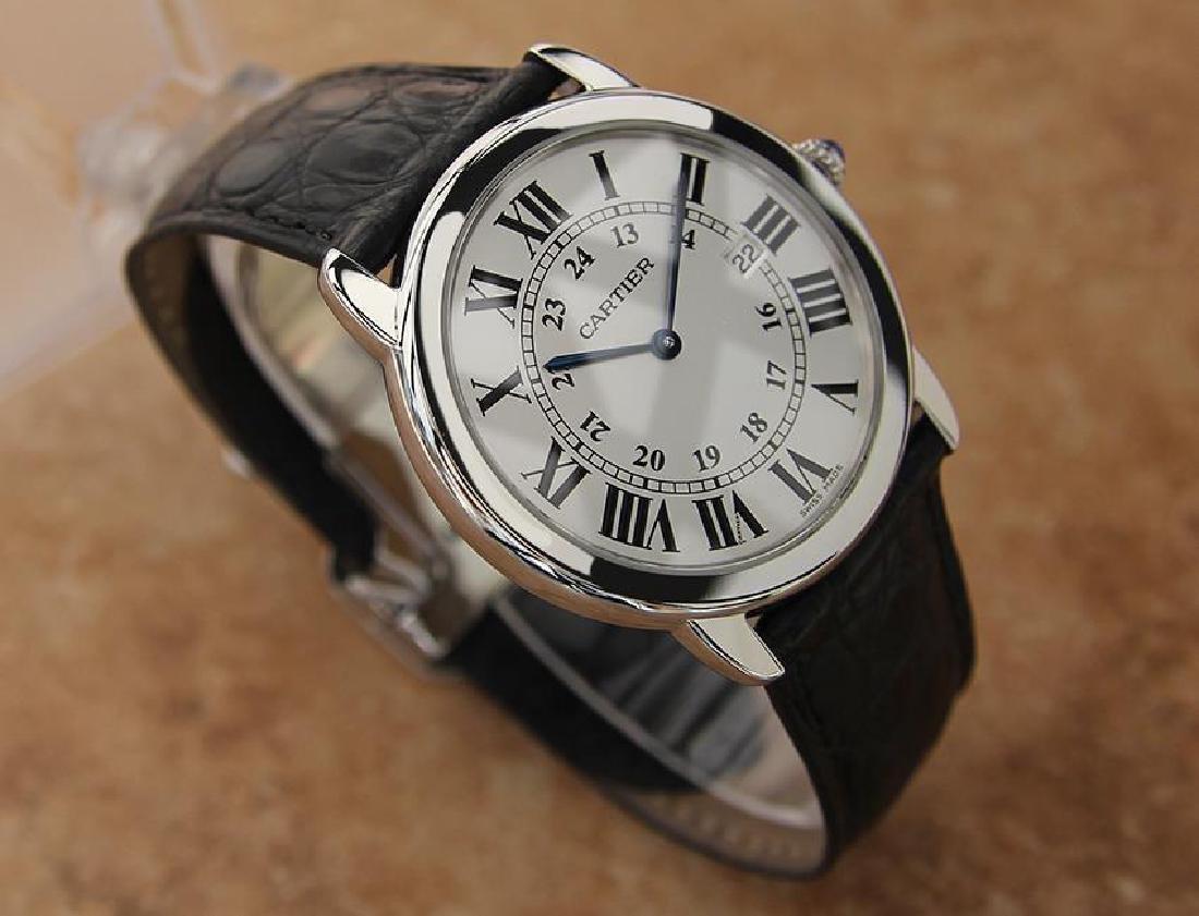 Cartier Ronde Men's 36mm Stainless Steel Quartz Watch - 3