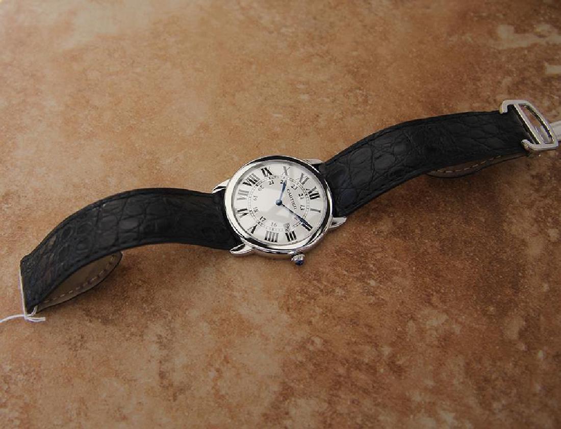Cartier Ronde Men's 36mm Stainless Steel Quartz Watch - 6