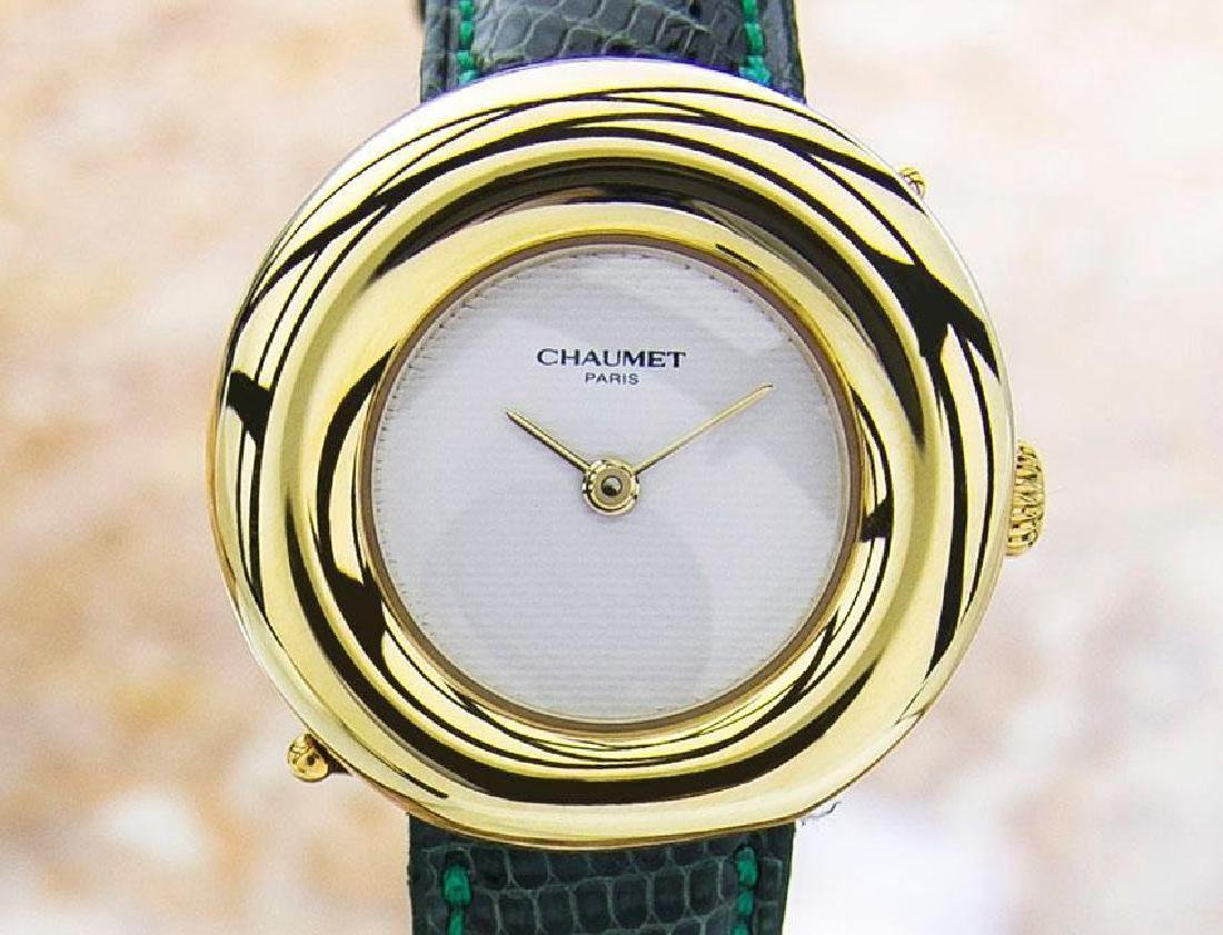 Chaumet Paris Quartz 18K Gold Ladies Dress Watch