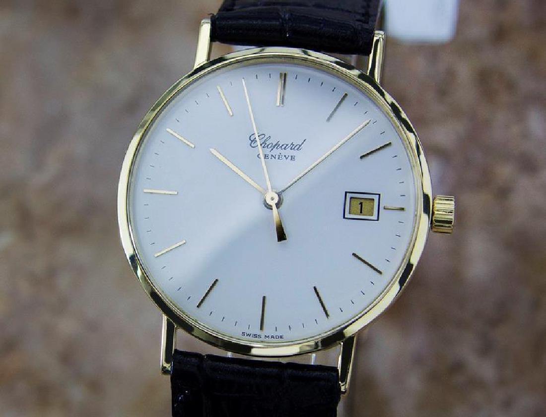 Chopard 18k Solid Gold Mens 1980s Quartz Watch